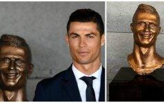 Cristiano Ronaldo biustas (Twitter nuotr.)