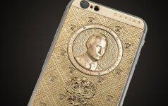 """V. Putino gimtadieniui pasiruošta: auksiniai """"putinofonai"""" laukia pasiturinčių klientų"""
