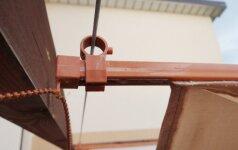 Kaip įrengti pergolės stogą