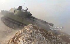 """Sirijos kariuomenė išplatino mūšių su """"Islamo valstybės"""" būriais vaizdo medžiagą"""