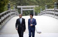 Nuo atominių bombų nukentėję korėjiečiai piktinasi B. Obamos apsilankymu Hirošimoje