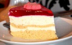 Varškės tortas su zefyrais