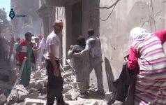 Sukilėliai raketomis apšaudė Alepo miesto ligoninę