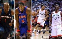 """Įžvelgė panašumų, bet ar """"Raptors"""" pakartos čempionišką """"Pistons"""" žygį?"""