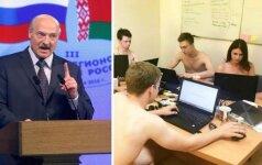 Baltarusiai pakluso netikėtam prezidento raginimui: išsirengė nuogai