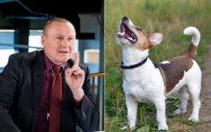 Lojančių šunų šeimininkus bausti siūlantis Čimbaras: jei gyvūnas loja 5 minutes – jis nesveikas