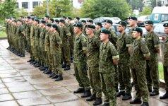 Į atsargą išlydėti tarnybą baigę Sausumos pajėgų štabo Ryšių kuopos šauktiniai