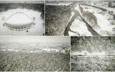 Kerinti žiema: gražiausia Vilniaus vieta iš paukščio skrydžio