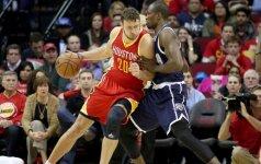"""NBA: D. Motiejūnas laimėjo prieš S. Ibaką, o """"Rockets"""" – prieš """"Thunder"""""""