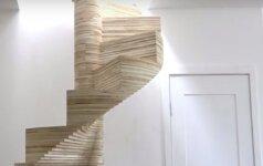 Darau pats: spiraliniai laiptai iš faneros lakštų