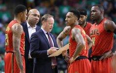 """Be staigmenų: """"Hawks"""" klubas iškopė į NBA Rytų konferencijos pusfinalį"""