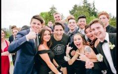Kanados premjeras J. Trudeau pradžiugino išleistuves šventusius abiturientus