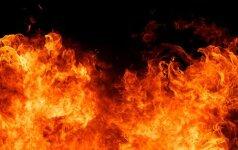 Utenoje degė rūsys, rastas stipriai apdegęs žmogaus kūnas