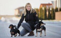 Du augintinius prižiūrinti Lina: svarbu suvokti, kad šuo yra naujas šeimos narys