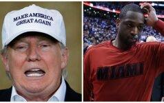 D. Trumpas sukėlė skandalą pamėginęs pasinaudoti tragedija D. Wade'o šeimoje