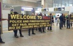Policininkų ir gaisrininkų protestas Rio de Žaneire