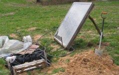 Darau pats: saulės kolektoriaus panaudojimas hidroponiniame darže