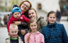 Jurgita Pocienė su vaikais
