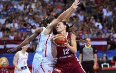 Europos čempionatą sudrebinusias latves ketvirtfinalyje sustabdė Ispanija