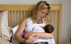 Nustatyta, kokį dar vieną pranašumą turi žindančios mamos