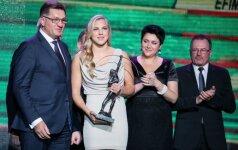 Geriausi Lietuvos sportininkai apdovanoti statulėlėmis ir grandioziniais pažadais