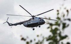 Kariuomenės sraigtasaparnis naktį buvo pasitelktas dingusio žmogaus paieškai
