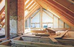 Palėpės pavertimas gyvenamomis patalpomis: keletas sprendimų
