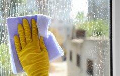 Šis triukas išmokys jus stebinančiai greitai nuvalyti langų rėmus