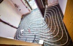 Žingsniai įsirengiant grindinį šildymą