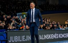 """Š. Jasikevičius ruošiasi lemiamai kovai su turkai ir šaiposi iš gandų apie vadovavimą """"Barcelonai"""""""