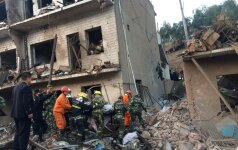 Kinijoje nugriaudėjus galingam sprogimui žuvo dešimt žmonių
