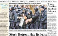 Paviešinta audringą reakciją sukėlusios Rusijos protestų nuotraukos istorija