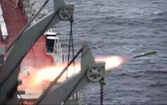 Rusijos karinio laivyno pratybos Barenco jūroje