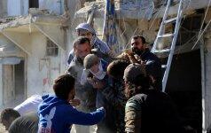 """J. Kerry: Sirijos režimas vykdo """"nusikaltimus žmoniškumui"""
