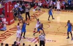 NBA: tritaškiais smaginęsis D. Motiejūnas surengė geriausią savo pasirodymą šiame sezone