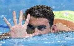 M. Phelpsas iškovojo kelialapį jau į penktąsias olimpines žaidynes
