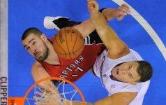 """Toronto """"Raptors"""" krepšininkai B. Griffino Los Andžele nesustabdė"""