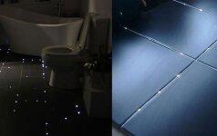 Darau pats: žvaigždėtos vonios grindys