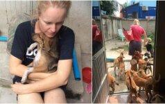 Moterį sujaudino šunų likimas: visą savo laiką skiria jų gelbėjimui