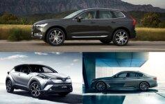 Volvo XC60, Toyota C-HR ir BMW 5
