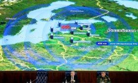 Putinas prie žemėlapio