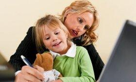 Aktualu visiems tėvams: patarimai, kaip efektyviai dirbti namuose, kai vaikas serga