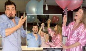 Sunkumų susilaukiant vaikelio patyrusi Rūta Banionytė sukūrė linksmą būsimo kūdikio lyties atskleidimo video