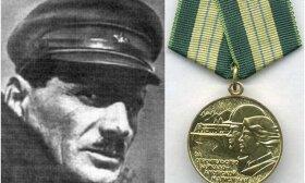 Naftalis Frenkelis ir už BAM statybą jam įteiktas medalis