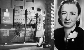 Programuotojos pionierės, dešinėje Grace Hopper