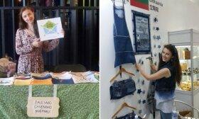 Nebereikalingi drabužiai privertė sukurti populiarėjantį verslą: siuva iš senų medžiagos skiaučių