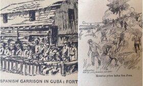 Koliažas: Ispanai Kuboje / Kautynės prie San Chuano kalno