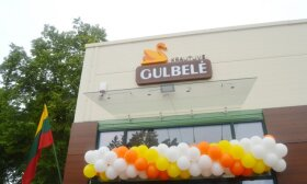"""Vietoje gyventojus šiurpinusios buvusios valgyklos Šakių rajone atidaryta """"Gulbelės"""" tinklo parduotuvė"""