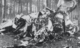 """""""Lituanicos"""" katastrofos vieta 1933-07-17 ryte ar po vidudienio; Dölzigo miško pakraštys prie Kuhdamm kaimo (nuotr. autorius nežinomas) / BLKM nuotr."""
