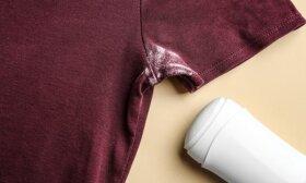 Kaip išvalyti iš drabužių baltas dėmes nuo antiperspirantų